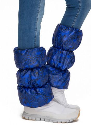 Краги для обуви черно-синие