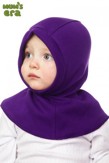 """Шлем детский """"Сиреневый"""", трикотажный Mum's Era"""