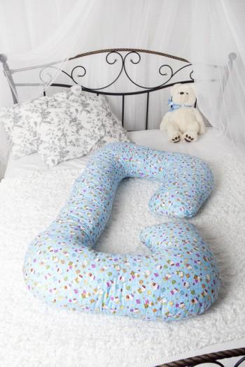 """Подушка для беременных и кормящих холлофайбер """"Рогалик"""" 340×35"""