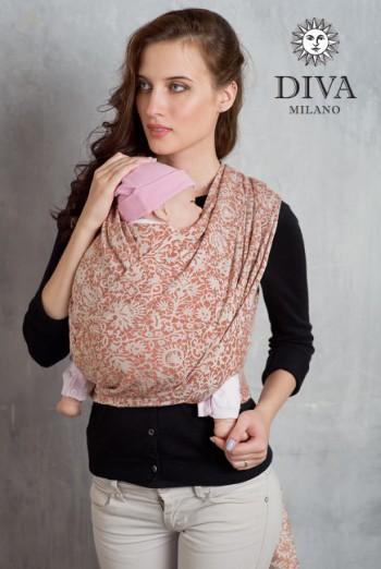 Слинг-шарф Diva Milano, Rose Spezia со льном и коноплей