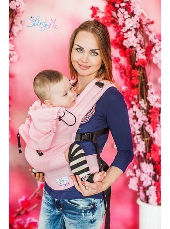 """Эргономичный рюкзак """"Розовый"""" эко-серия """"Лен"""""""