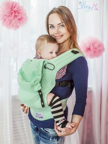 """Эргономичный рюкзак """"Зеленый"""" эко-серия """"Лен"""""""