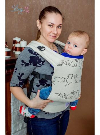 """Эргономичный рюкзак """"Натурель"""" эко-серия """"Лен"""""""