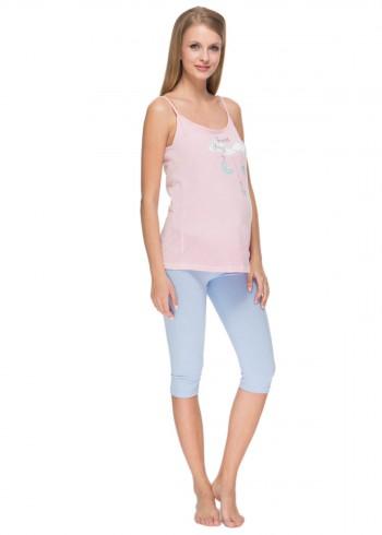"""Комплект для сна """"Лойя"""" розовый для беременных"""