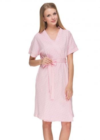 """Комплект для роддома """"Дарина"""" розовый для беременных и кормящих"""