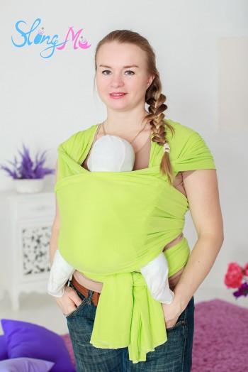 """Слинг-шарф трикотажный """"Салатовый"""""""