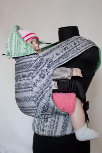 Слинг-рюкзак Karaush Adel Elegance/Adel Mint(чер) двусторонней носки