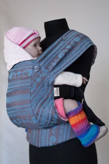 Слинг-рюкзак Karaush Adel Turqouise/Adel Sakura(чер) двусторонней носки