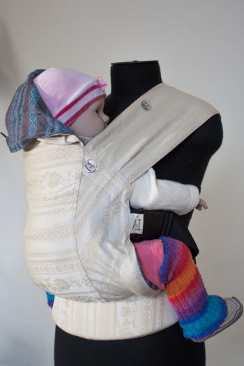 Слинг-рюкзак Karaush Adel Baked Milk/Adel Turqouise (чер) двусторонней носки