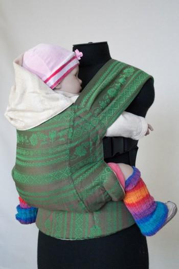 Слинг-рюкзак Karaush Adel Baked Milk/Adel Forest(чер) двусторонней носки