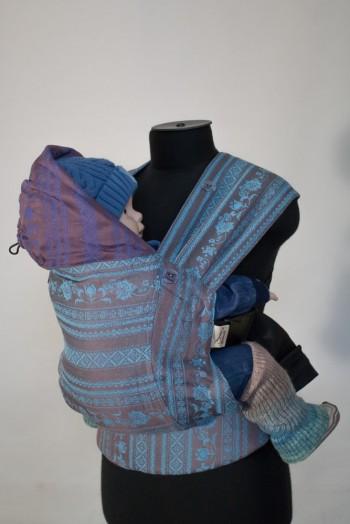 Слинг-рюкзак Karaush Adel Turquoise/Adel Blueberry Pie (чер) двусторонней носк