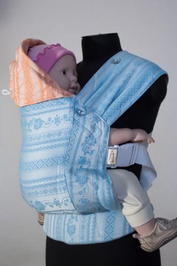 Слинг-рюкзак Karaush Adel Sky/Adel Orange (бел) двусторонней носки