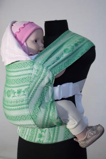 Слинг-рюкзак Karaush Adel Sakura/Adel Mint (бел) двусторонней носки