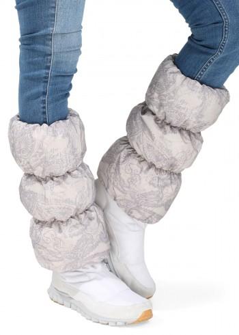 Краги для обуви бежевые узоры