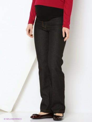 Плотные брюки под джинсу на флисе, черные