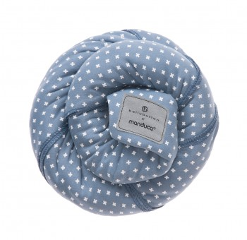 Трикотажный слинг-шарф bellybutton by Manduca WildCrosses blue