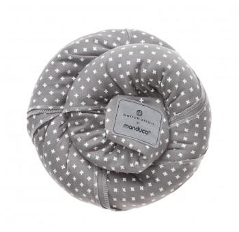 Трикотажный слинг-шарф bellybutton by Manduca WildCrosses grey