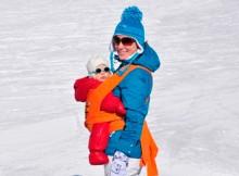 Как носить ребёнка в слинге зимой?