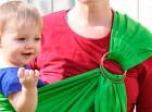 Как носить в слинге подросшего ребенка?