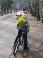 Велопрогулка с малышом в слинге