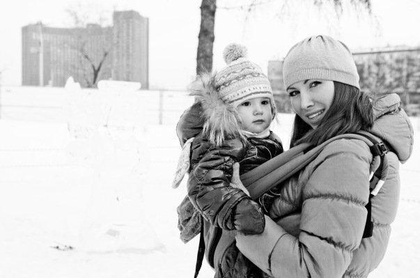 Ношение слингокурки зимой