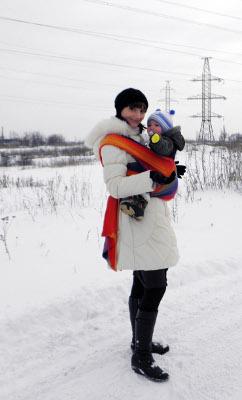 В слинге зимой