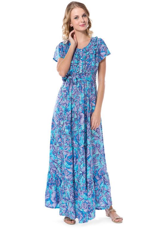 """Платье """"Мелитта"""" бирюзовое для беременных и кормящих"""