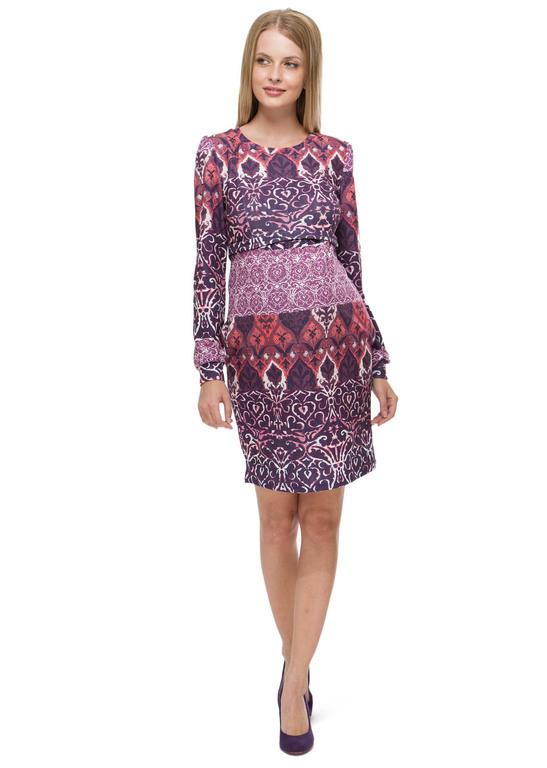 """Платье """"Авента"""" лиловое с орнаментом для беременных и кормящих ТМ """"I Love Mum"""""""