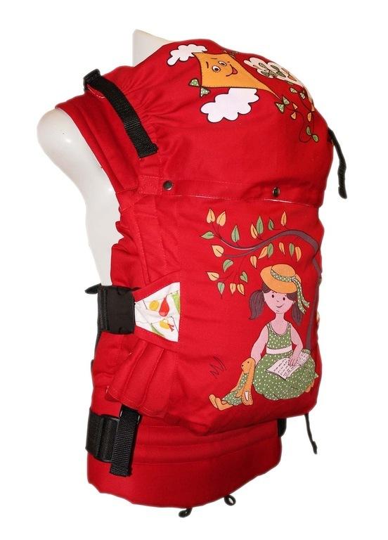 Слиниг-рюкзак алый