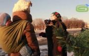 Слинг в зимнем городе: слингокуртка, слингопальто, слиговставка