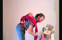 Видео-инструкцуия, май-слинг, положение За спиной