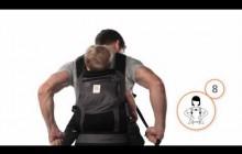 Как носить малыша на спине в рюкзачке ErgoBaby