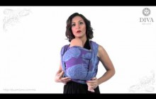 Демонстрация намотки слинг-шарфа Diva Milano
