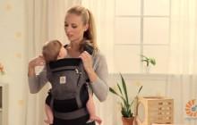 Использование вствки для новорожденных Ergo Baby для малышей от 4 до 6 месяцев