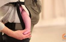 Использование вствки для новорожденных Ergo Baby для малышей от 3 до 4 месяцев